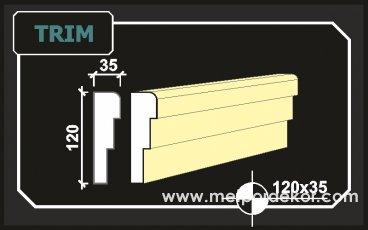 trim söve 12cm x 3.5cm